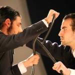 Alberto Cossu e Andrea Gennati in Giulio Cesare di William Shakespeare, Liceo Canopoleno, Sassari, 2014