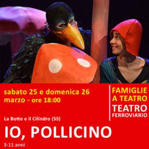 IO, POLLICINO – sabato 25 e domenica 26 marzo alle ore 18:00 – Teatro Ferroviario