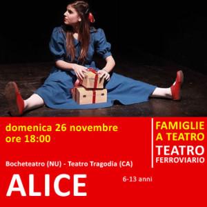 ALICE - domenica 26 novembre alle ore 18:00 - Teatro Ferroviario