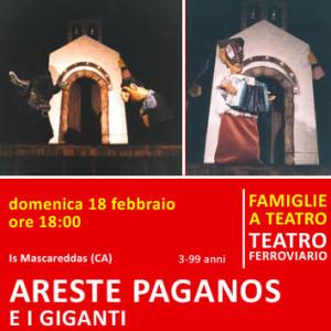 ARESTE PAGANOS E I GIGANTI - domenica 18 febbraio alle ore 18:00 - Teatro Ferroviario
