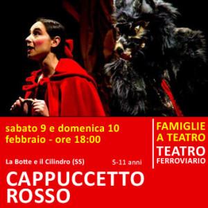 CAPPUCCETTO ROSSO - sabato 9 e domenica 10 febbraio - ore 18:00 teatro ferroviario