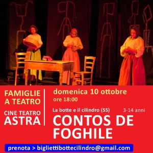 CONTOS DE FOGHILE - CineTeatro Astra - 10 ottobre ore 18:00